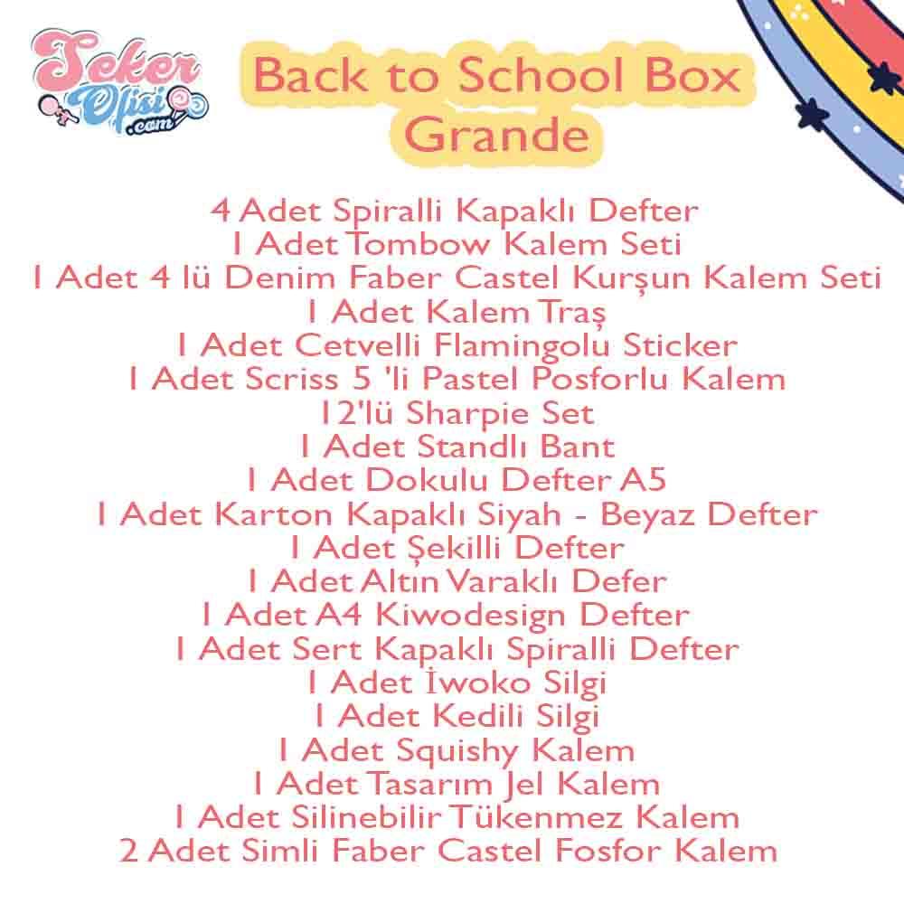 Back to School Box Grande Okula Dönüş Herşey İçinde Büyük