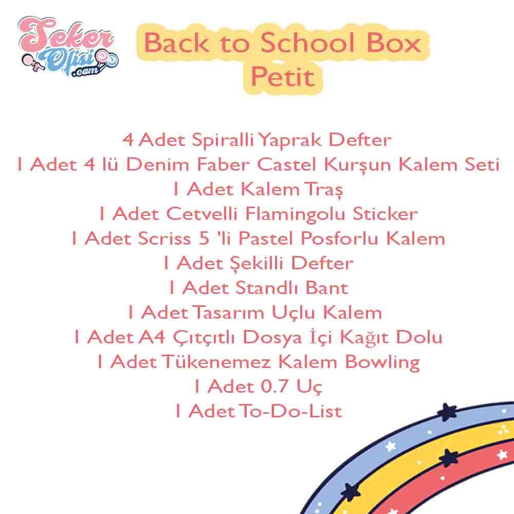 Back to School Box Petit Okula Dönüş Herşey İçinde Küçük