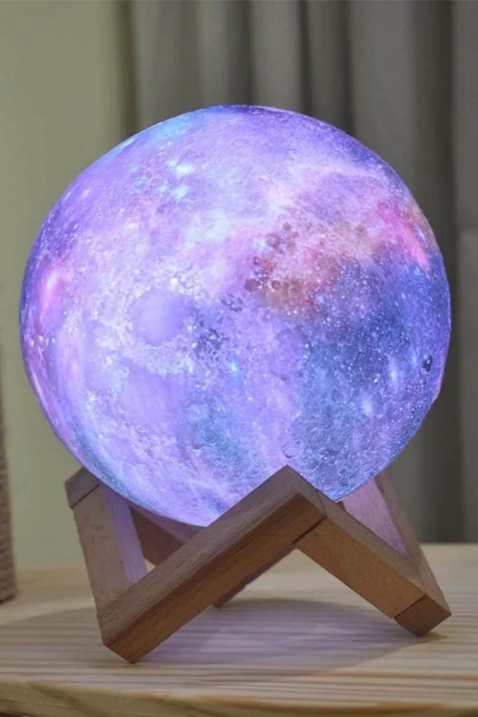 Galaxy Moon 12 cm Gece Lambası Renk Değiştiren
