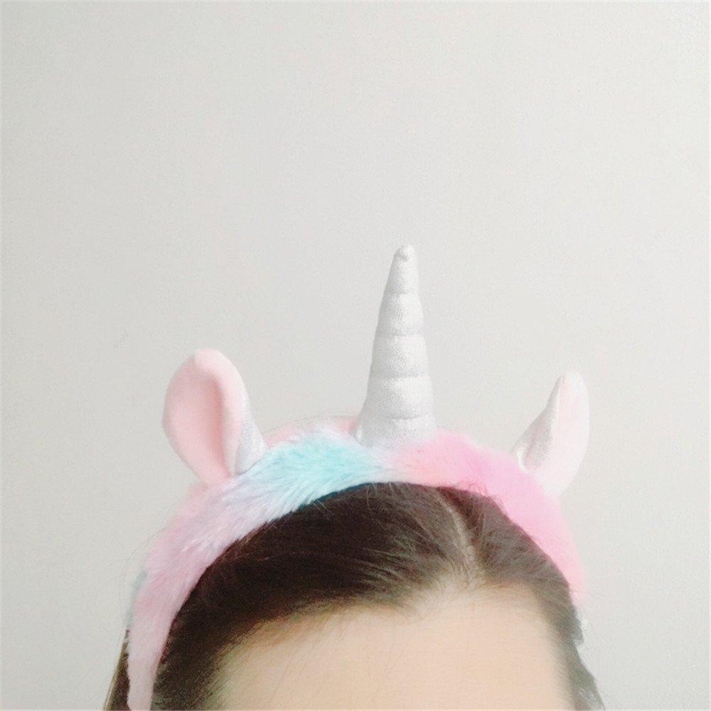Renkli Peluş Unicorn Taç