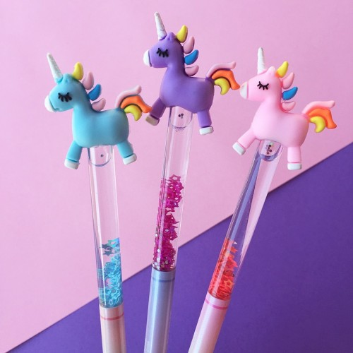 Unicorn At Simli Sulu Jel Mürekkep Kalem